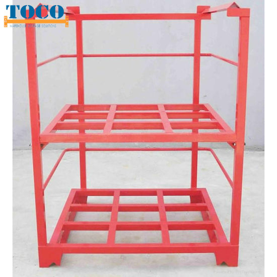 China Factory Painted Ce Certified Collapsible Stacked Bar Rack with Wood Deck