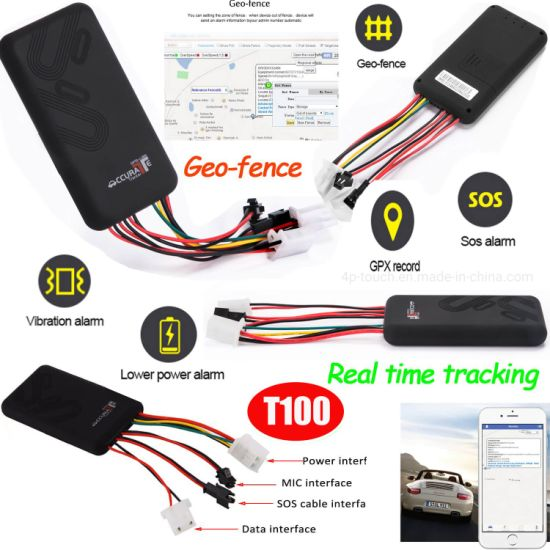 Sos Alarm Car Truck GPS Tracker Navigator for Fleet Management T100