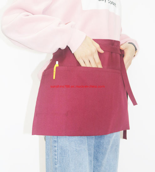 High Quality Restaurant Cooking Kitchen Short Makeup Work Waist Apron pictures & photos