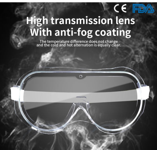 Factory Manufacturer Goggles Wholesale Protective Medical Goggles Anti-Fogging Goggles PPE Medical Supplies Safety Glasses