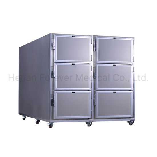 China Factory 6 Bodies Mortuary Corpse Freezer Dead Body Fridge