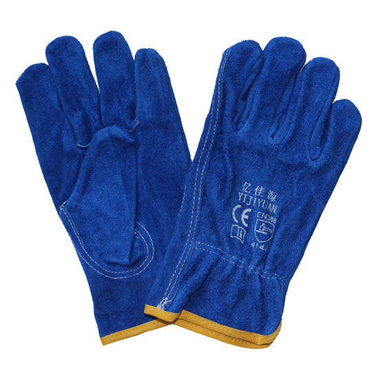 Cowhide Split Leather Drivers Industrial Safety Glove pictures & photos