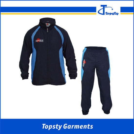 Polyester Custom Track Suits, Men's Sport Track Suits with Mesh Lining