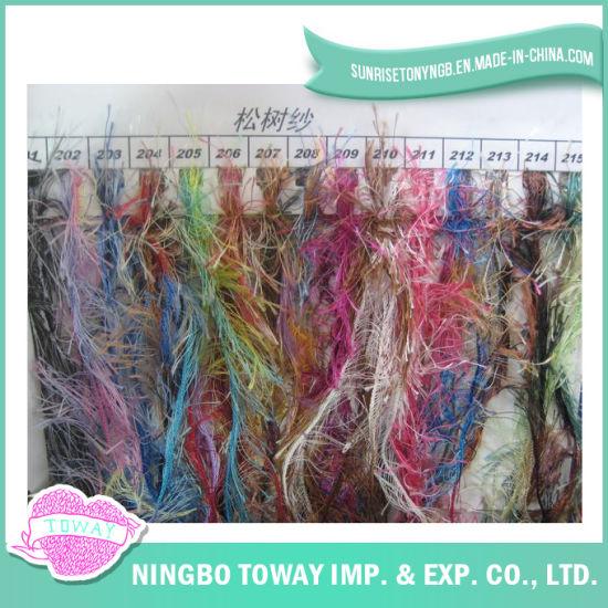 Fancy Pinaster Eyelash Feather Acrylic Knitting Yarn for Baby