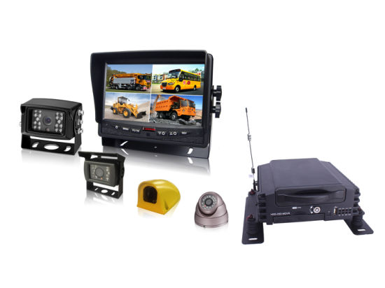 4CH HDD Mobile DVR with Dual SD Card for Truck & Bus Security