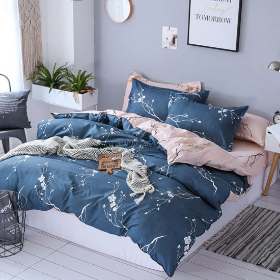 Duvet Cover with Pillow Case /& Bed sheet Quilt Bedding Set Single Double King