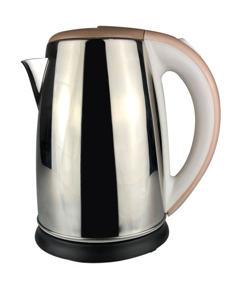 Light Brown Fast Heating Stainless Steel Electronic Kettle with Flashing Light 1.8L