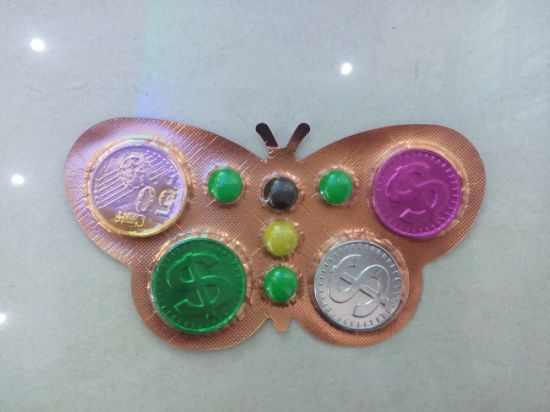 Plast Packing Butterfly Chocolate Coin and Beans pictures & photos