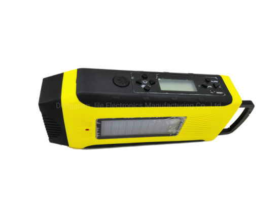 Multifunctional Rechargeable Am/FM 2 Band Radio with Sos Alarm LED Flashlight USB Charger for Survival pictures & photos