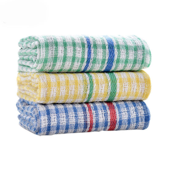 High Quality Cheap Waffle Kitchen Tea Towel Set with Embroidery pictures & photos