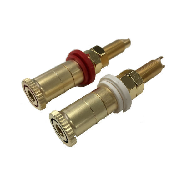Audio Speaker Spike Binding Post Terminal Brass Connector