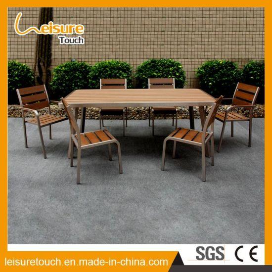 china powder spraying dining garden furniture aluminum polywood
