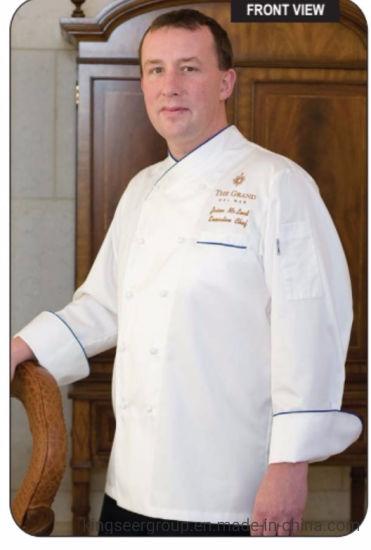 Customized Uniforms Fashion Workwear Lightweight Long Sleeve Chef Coat
