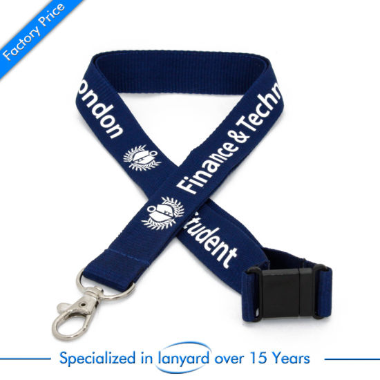 Customized Promotion Flat Polyester Lanyard Gift Charms Clasp Dubai Hardware pictures & photos