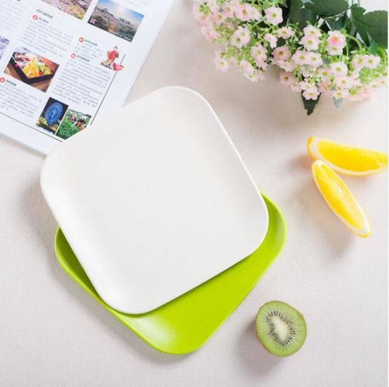 BPA Free Eco Bamboo Fiber Serving Tray (BC-GT128) pictures & photos