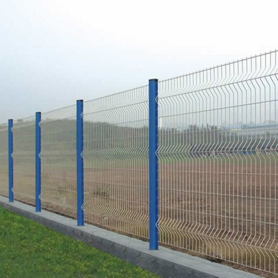 China Curvy Pvc Metal Welded Wire Mesh Panel Fence