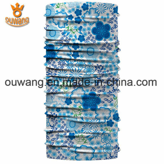 Promotional Popular Cheap Custom Printed Microfiber Polyester Paisley Tube Scarf pictures & photos