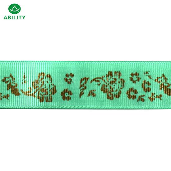 Polyester Christmas Hot Selling Festival Popular Printed Grosgrain Ribbon