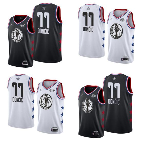 cce4ee5dda98 Wholesale 2019 N-B-a All-Star 77 Luka Doncic Replica Basketball Jerseys