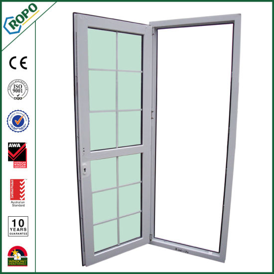 Plastic Door Tinted Glass Door With Grid Design