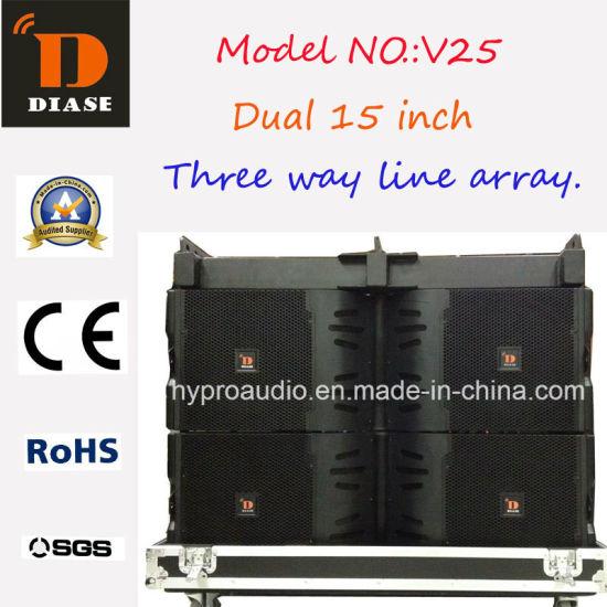 2016 Hot Sale V25 Line Array Neodymium Dual 15 Inch Audio
