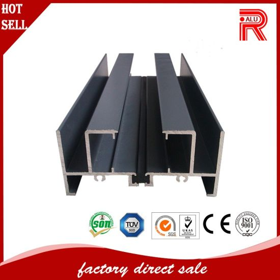 Aluminum/Aluminium Extrusion Profiles for Spring Door (RA-014) pictures & photos