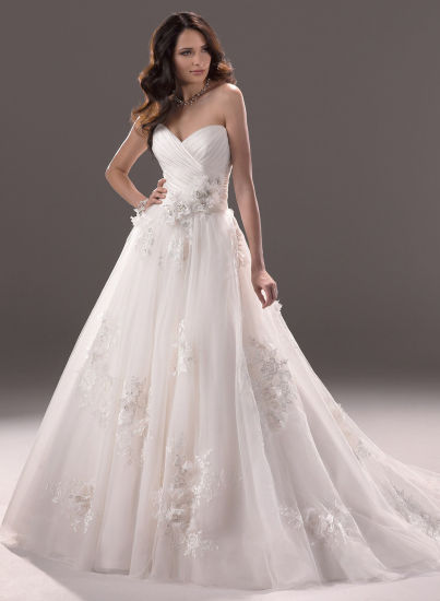 Organza Cocktail Bridal Dress Puffy Wedding Gown pictures & photos