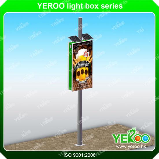 Lamp Post Light Box- Lamp Pole Signage- Street Pole Signs