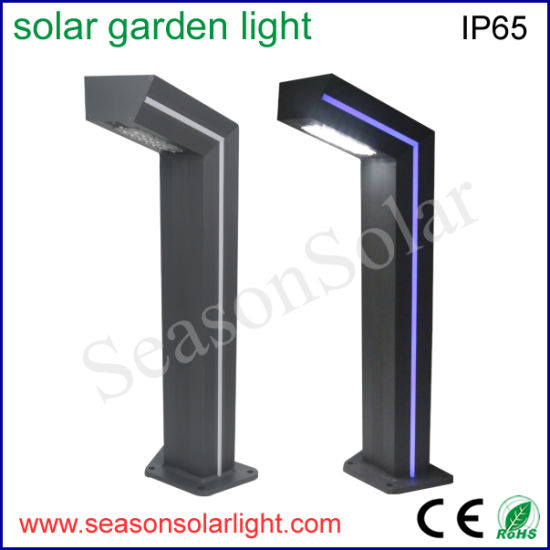 High Power Outdoor Lighting Landscape Light Solar LED Garden Lighting with Blue LED Strip Lighting Pole