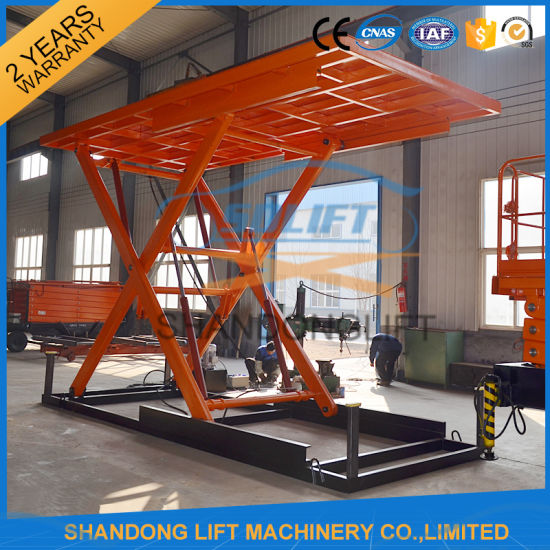 3t 3.5m Hydraulic Electric Scissor Type Underground Car Lift for Basement