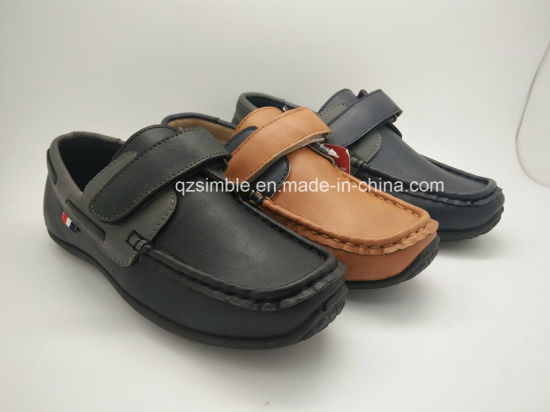 Casual Loafers Shoes for Children with Magic Velcro