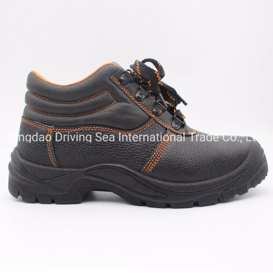 Iron to Rubber Sole Leather Work Safety Shoes pictures & photos