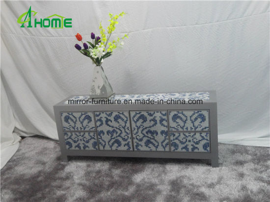 china mirrored table tv table mirrored glass living room furniture