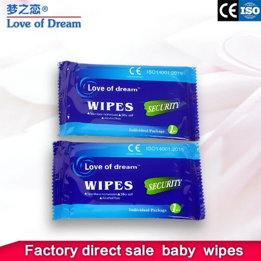 10PCS Individual Hot Sell Non Woven Cleaning Hand Face Wet Wipes