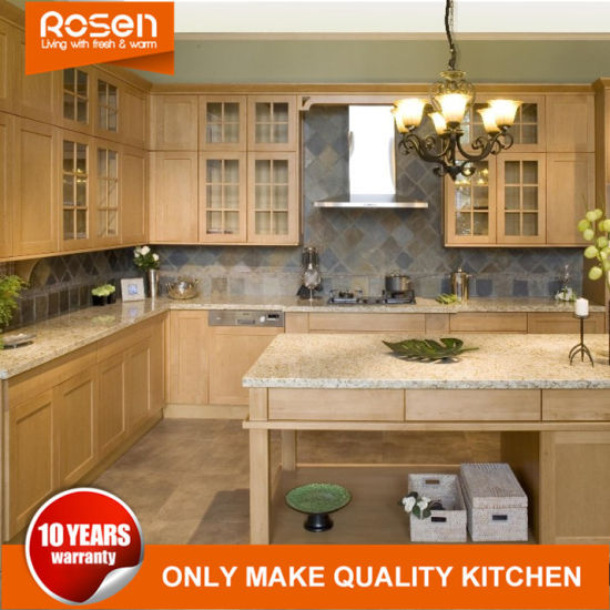 China Classic Style Elm Solid Wood Kitchen Cabinets For Sale China Oak Furniture Home Furniture