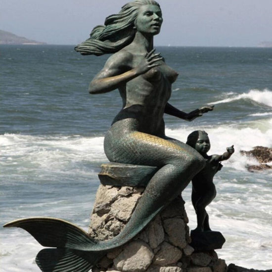 Mermaid Water Fountain For Garden Decor