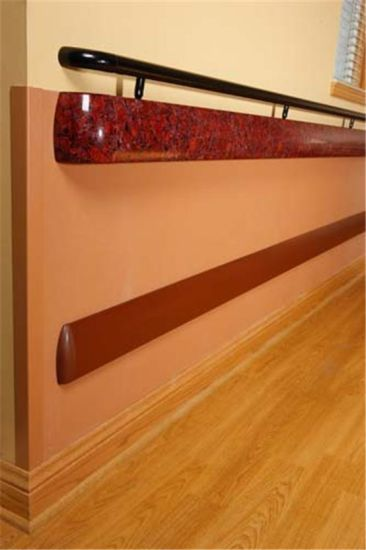 Pure Color Vinyl Hospital Handrails Wall Protection pictures & photos