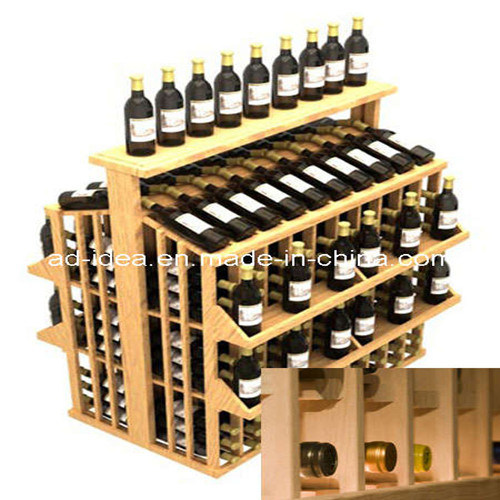 Wooden Wine Display Stand/Exhibition Stand/Advertising Stand for Wine Promotion (WWD-011)