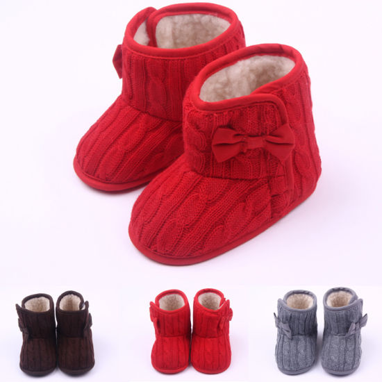 Fashion Azo Free Knitted Baby Health Boots for Enfant 0-12 Months