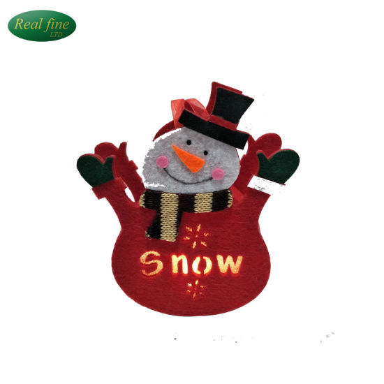 handmade crafts cloth lighted christmas snowman hanging decoration - Hanging Lighted Christmas Decorations