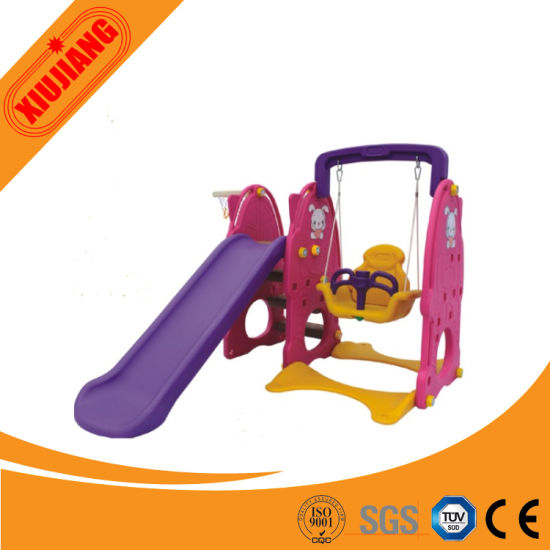 Cheap Kids Plastic Outdoor Slide Swing Set for School pictures & photos