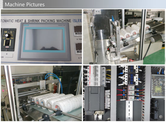 Automatic Cylindrical Products Shrink Wrapping Machine pictures & photos