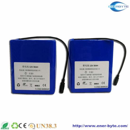 Lithium Battery 12V 30ah for Camera