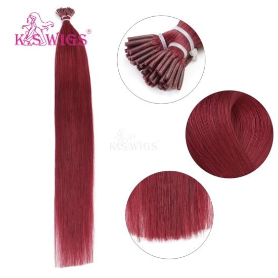 K. S Wigs 7A Grade Full Ending Brazilian Hair I Tip Keratin Hair Extension pictures & photos