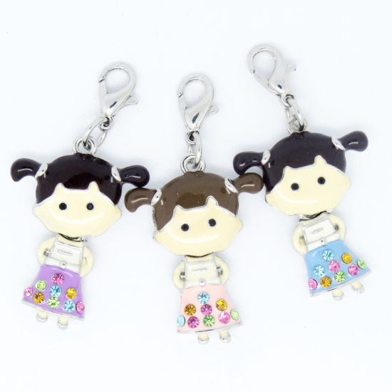 New Arrival Wholesale Alloy 3D Boys and Girls Enamel Charms for Teen pictures & photos