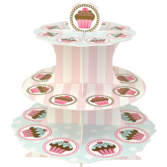 Wholesale Fashion Paper Cardboard Cupcake Display Box with Custom Printing pictures & photos