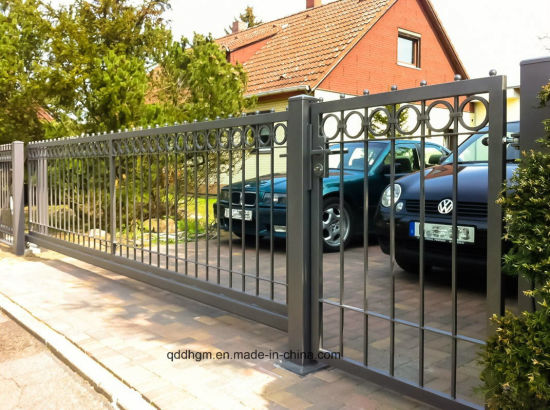 Ornamental Garden Automatic Sliding Wrought Iron Gate pictures & photos
