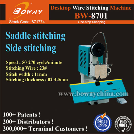Magazine Journal Periodical Literature Paper Office Flat Side Saddle Stitch Stapling Electirc Stapler pictures & photos