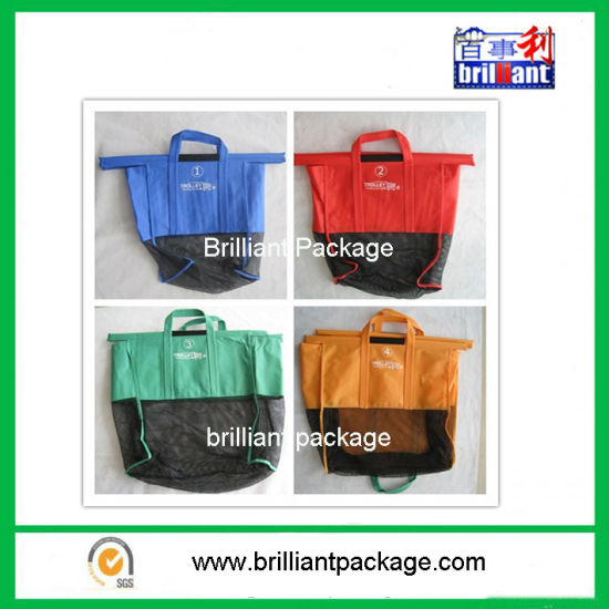 90GSM Four Color Nonwoven Folding Carry Trolley Shopping Bag pictures & photos