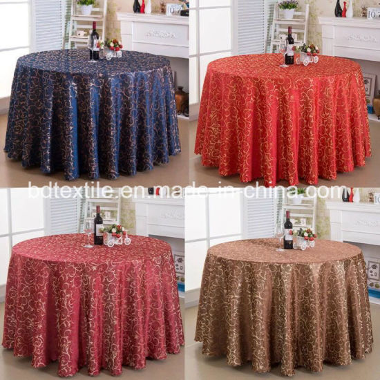 Yiwu B\u0026D Textile Co. Ltd. & China Hotel Restaurant Banquet Party Table Linens Wedding Damask ...